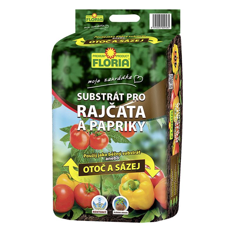AGRO FLORIA Substrát na rajčata a papriky 40 l