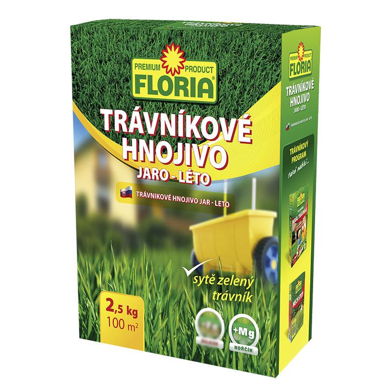 AGRO FLORIA Trávnikové hnojivo JAR - LETO 2,5 kg