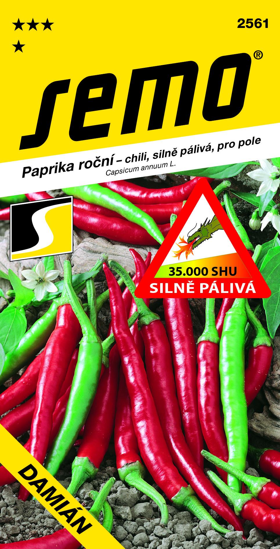 SEMO Paprika DAMIÁN chili červená