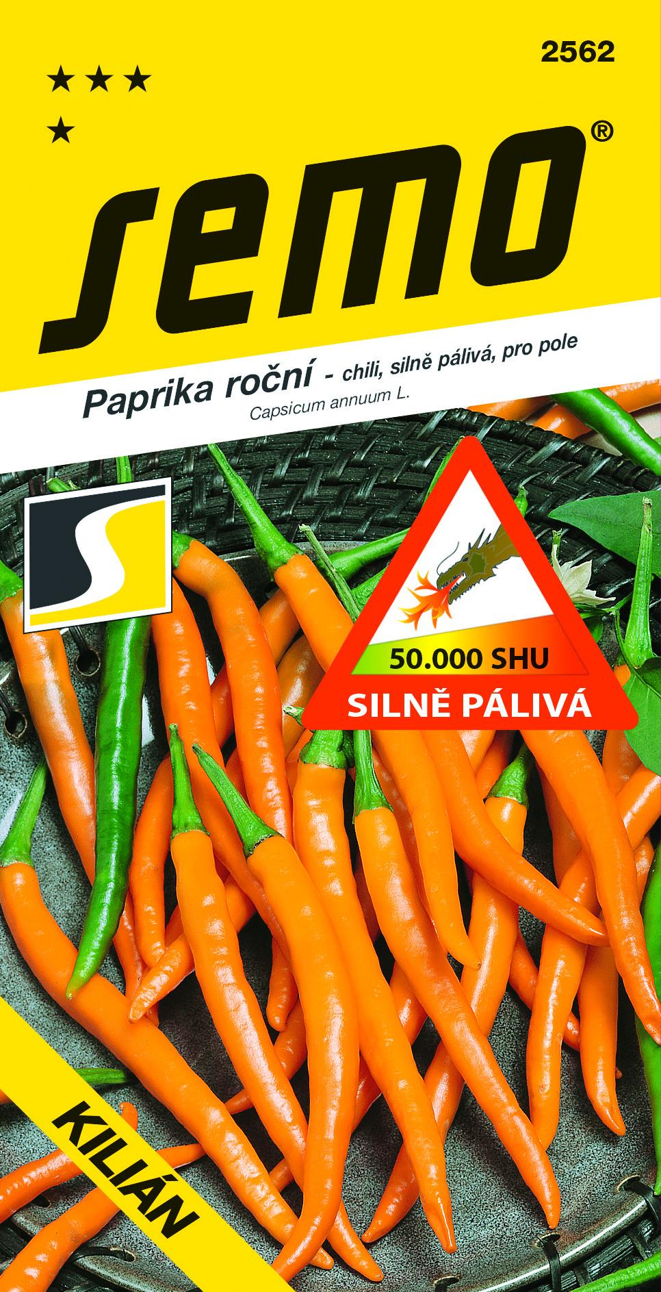 SEMO Paprika Kilian chili oranžová