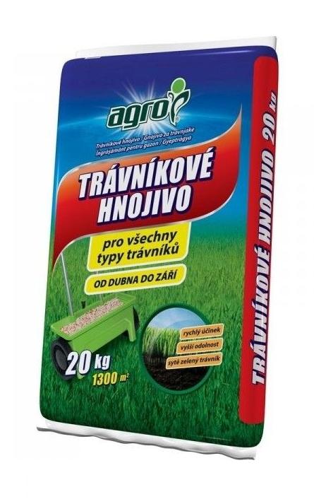 AGRO Trávnikové hnojivo 20 kg 19-08-08+2MgO
