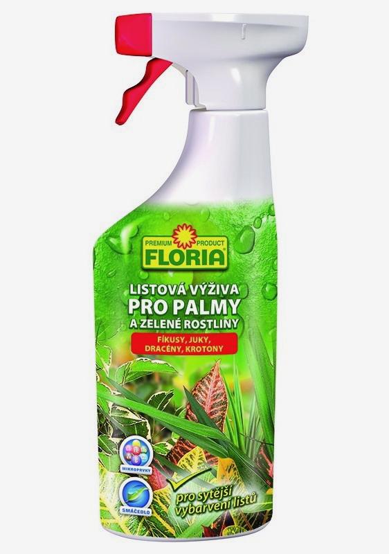 AGRO FLORIA Listová výživa pro zelené rostliny a palmy 500 ml
